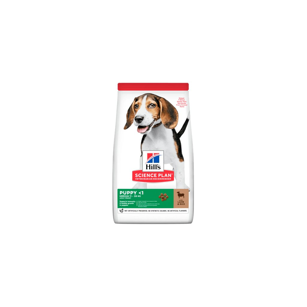 sp canine science plan puppy healthy development lamb and rice dry