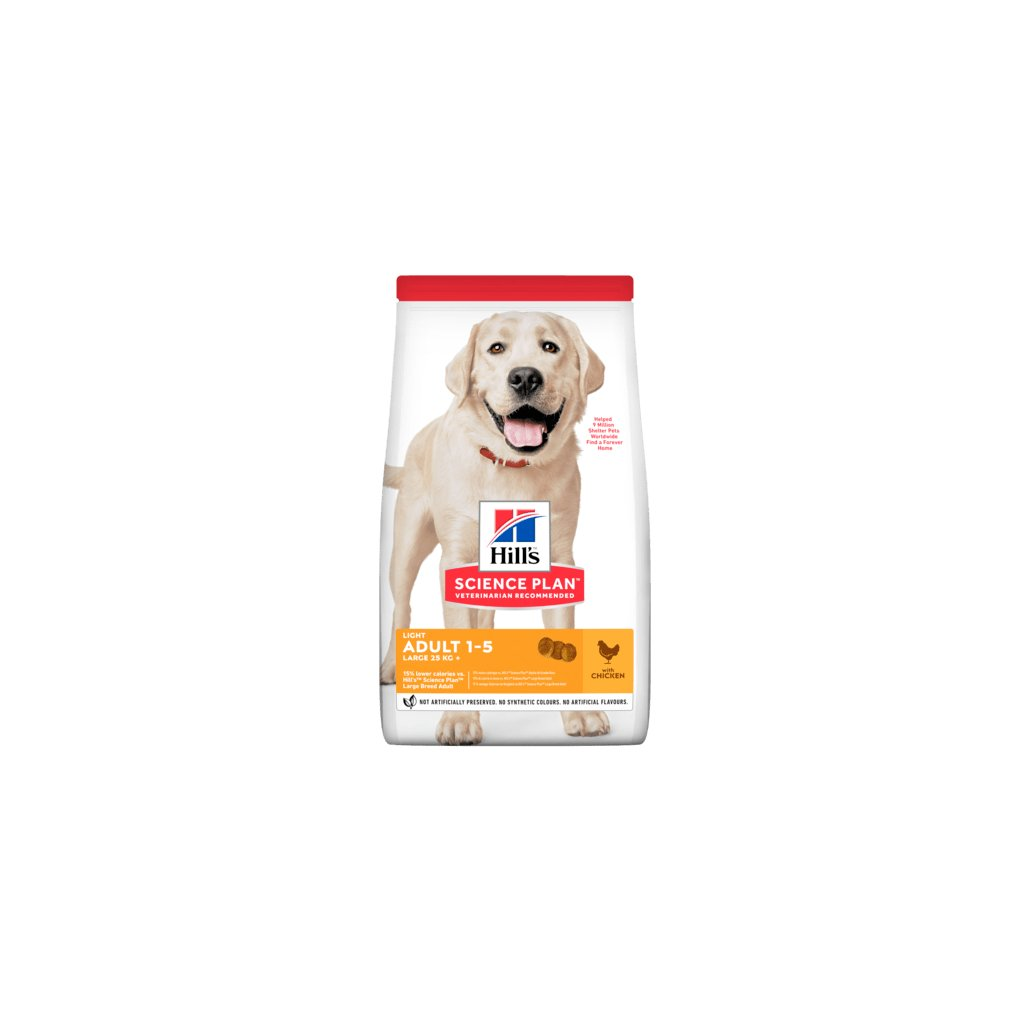 sp canine science plan adult light large breed chicken dry