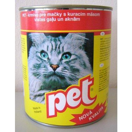 PET KATZE kostky s  drůbežím masem pro kočky 855g