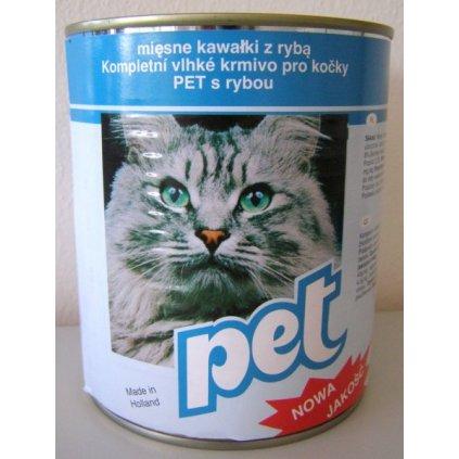 PET KATZE masové kostky s rybou pro kočky 855g