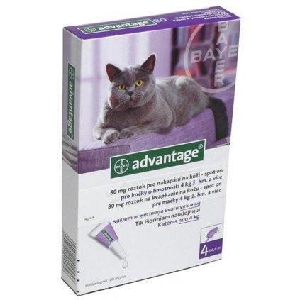 Advantage 80mg pro velké kočky a králíky, 4x 0,8ml