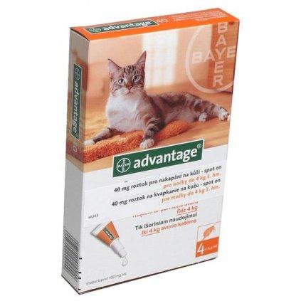 Advantage 40mg pro malé kočky a králíky, 4x 0,4ml