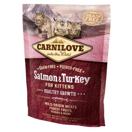 Carnilove Cat Kitten Salmon & Turkey Grain Free 400g