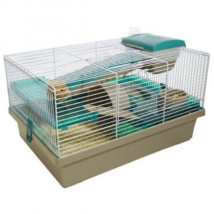 Klec hlodavec/křeček Pico hnědá/zelená RW 50 x 36 x 31 cm