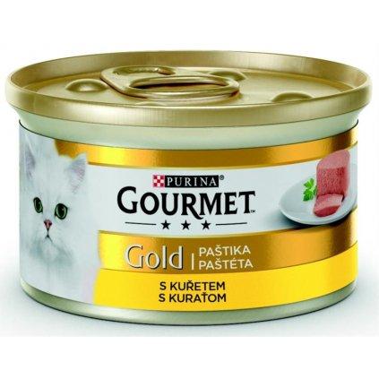 Gourmet Gold cat konz.-jemná paštika kuře 85 g