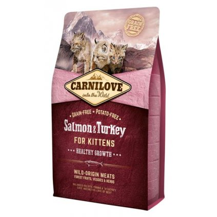 Carnilove Cat Kitten Salmon & Turkey Grain Free 6 kg