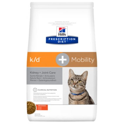pd feline prescription diet kd plus mobility with chicken dry