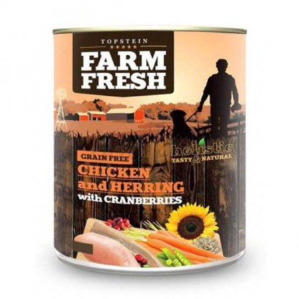 farm fresh chicken and herring with cranberries 800 g