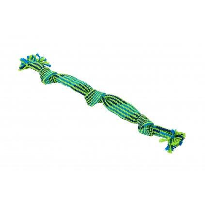 Hračka pes BUSTER Pískací lano L modrá/zelená 58cm