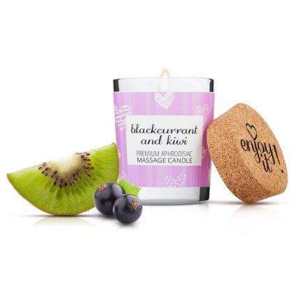 Masážní svíčka MAGNETIFICO Enjoy it! Blackcurrant and kiwi 9