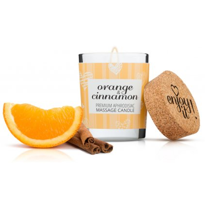 Masážní svíčka MAGNETIFICO Enjoy it! Orange and cinnamon 9