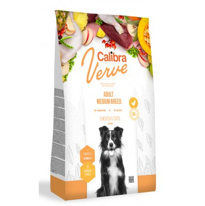 calibra verve dog adult medium chicken duck
