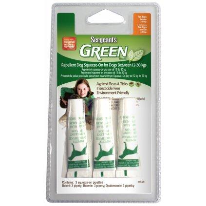SERGEANTS Green Spot-on 12-30 kg 3x3ml