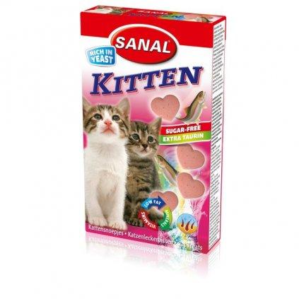 SANAL Kitten srdíčka losos + taurin 40tbl