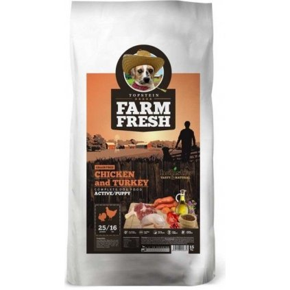 FARM FRESH Chicken & Turkey Active/Puppy Grain Free 15 kg