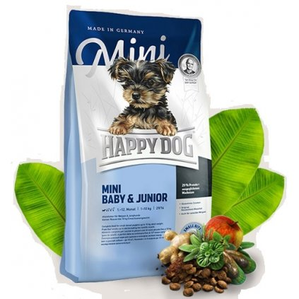 happy dog trockenfutter hund mini baby junior