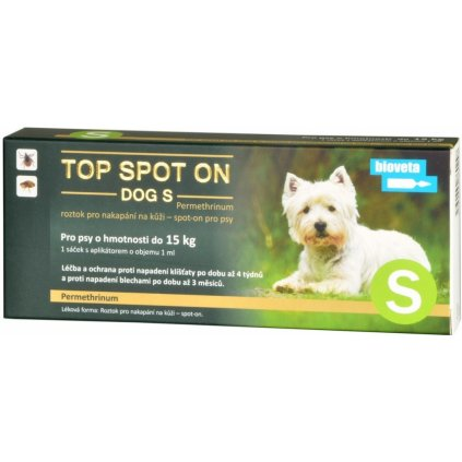 BIOVETA Top spot on dog S 1x1ml