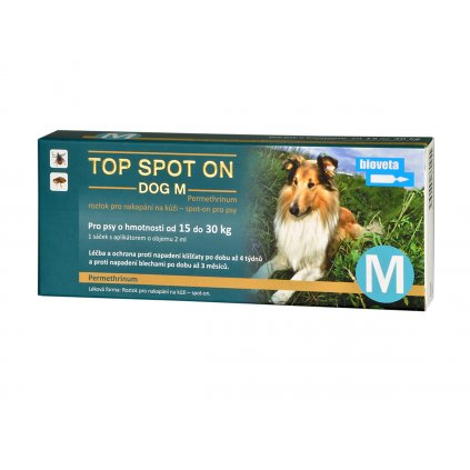 BIOVETA Top spot on dog M 1x2ml