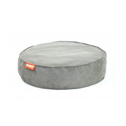 Kulatý pelíšek Aminela Full comfort 60/12cm šedá