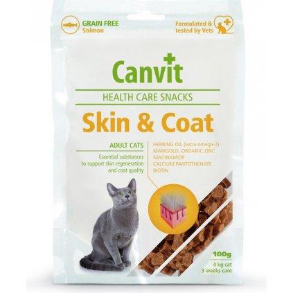 CANVIT Cat Health Care Snack Skin & Coat 100g