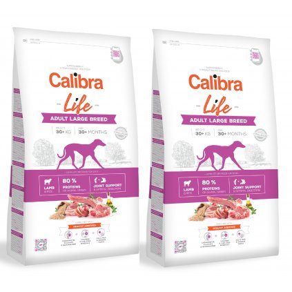 calibra dog life adult large lamb