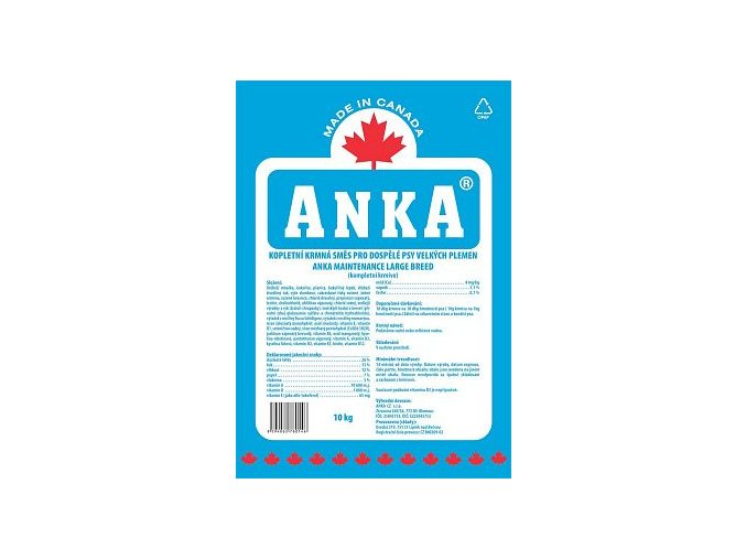 ANKA Maintenance Large Breed 20 kg