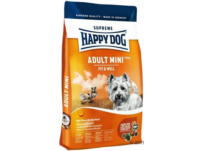 HAPPY DOG Supreme Fit & Well Adult Mini 4 kg  + 1 kg ZDARMA !