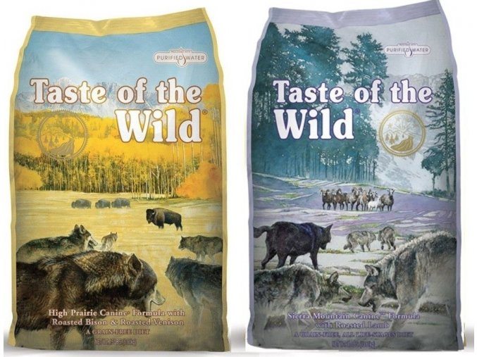 TASTE OF THE WILD High Praire Canine 13 kg + TASTE OF THE WILD Sierra Mountain Canine 13 kg
