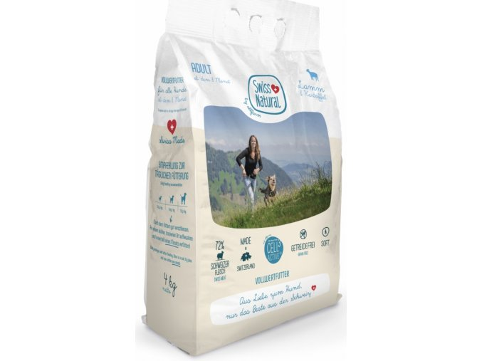 SWISS Natural Dog Adult Lamb 4 kg