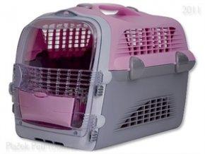 Přepravka CAT IT Pet Cargo Cabrio 51x33x35cm růžová/šedá