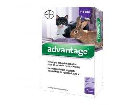 Advantage 80mg pro velké kočky a králíky, 1x 0,8ml