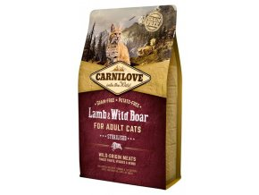 Carnilove Cat Adult Lamb & Wild Boar Grain Free Sterilised 2 kg