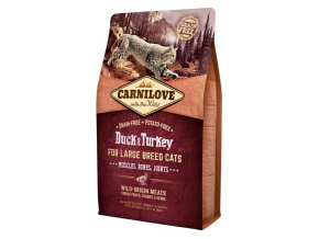 Carnilove Cat Adult Duck & Turkey Large B.Grain Fr 2 kg