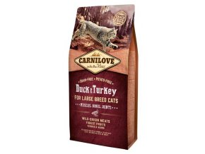 Carnilove Cat Adult Duck & Turkey Large B.Grain Fr 6 kg