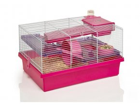 Klec hlodavec/křeček Pico růžová/fialová RW 50 x 36 x 31 cm
