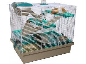 Klec hlodavec/křeček Pico XL hnědá/zelená RW 50 x 36 x 47 cm