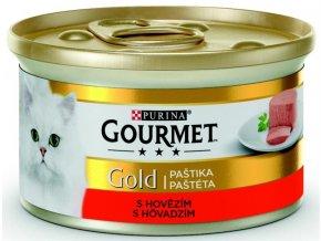 Gourmet Gold cat konz.-jemná paštika hovězí 85 g