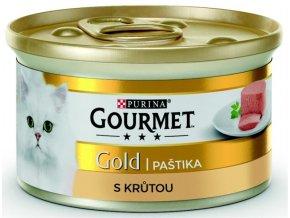 Gourmet Gold cat konz.-jemná paštika krůta 85 g