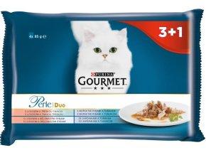 Gourmet Perle cat kaps.- DUO Multipack ryba 4 x 85 g (3+1zdarma)