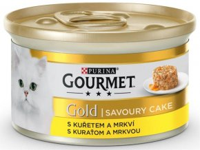 Gourmet Gold cat konz.-Savoury Cake kuře,mrkev 85 g