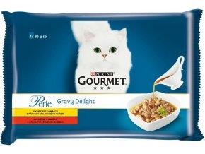 Gourmet Perle cat kaps.- Multipack maso v omáčce 4 x 85 g