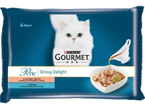 Gourmet Perle cat kaps.- Multipack ryba v omáčce 4 x 85 g