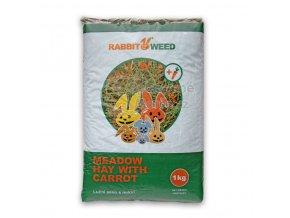seno lucni s mrkvi rabbitweed 1kg 40 l