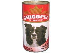 CHICOPEE konzerva hovězí kostky pro psy 400g