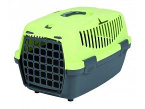 Transportní box CAPRI I. 32x31x48cm max.do 6kg - tmavě šedá/světle zelená