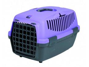 Transportní box CAPRI I. 32x31x48cm max.do 6kg - tmavě fialová/sv.fialová