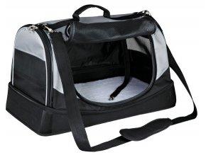 Transportní taška-pelíšek HOLLY 50x30x30 cm nylon,černo/šedá