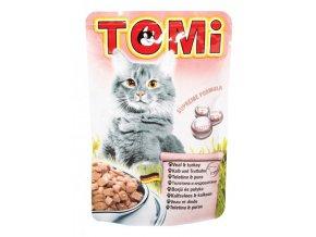 TOMI kapsička telecí & krůta pro kočky 100g