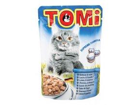 TOMI kapsička losos & pstruh pro kočky 100g