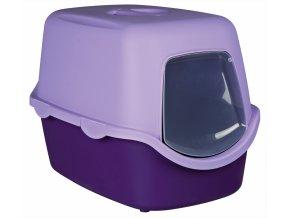 WC VICO kryté s dvířky, bez filtru 56x40x40cm - fialovo/šeříková